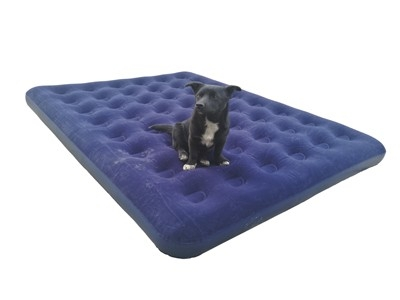 PVC pile coating double air mattress